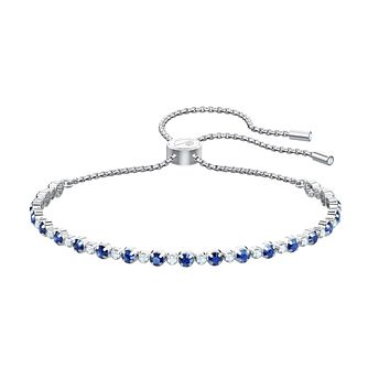 Swarovski Subtle Rhodium Plated Blue Crystal Bracelet - Product number 2949504