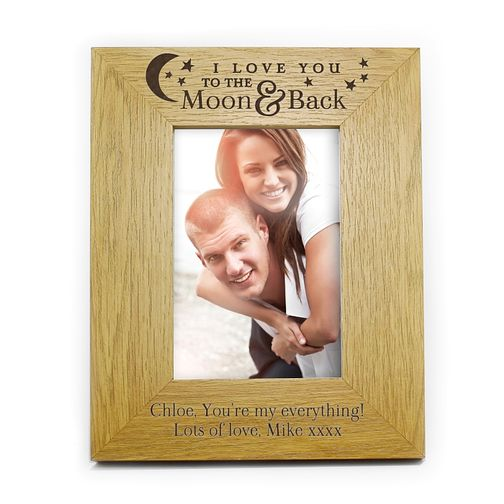 Engraved To The Moon and Back Oak Finish 6x4 Frame - Product number 2949539