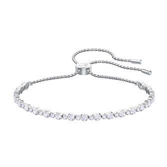 Swarovski Subtle Rhodium Plated White Crystal Bracelet - Product number 2949555