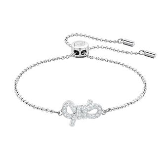Swarovski Lifelong Bow Rhodium Plated Bracelet - Product number 2949857 d71a139aa9