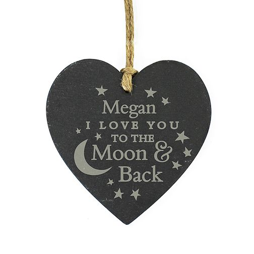 Engraved To the Moon and Back Slate Heart - Product number 2949970