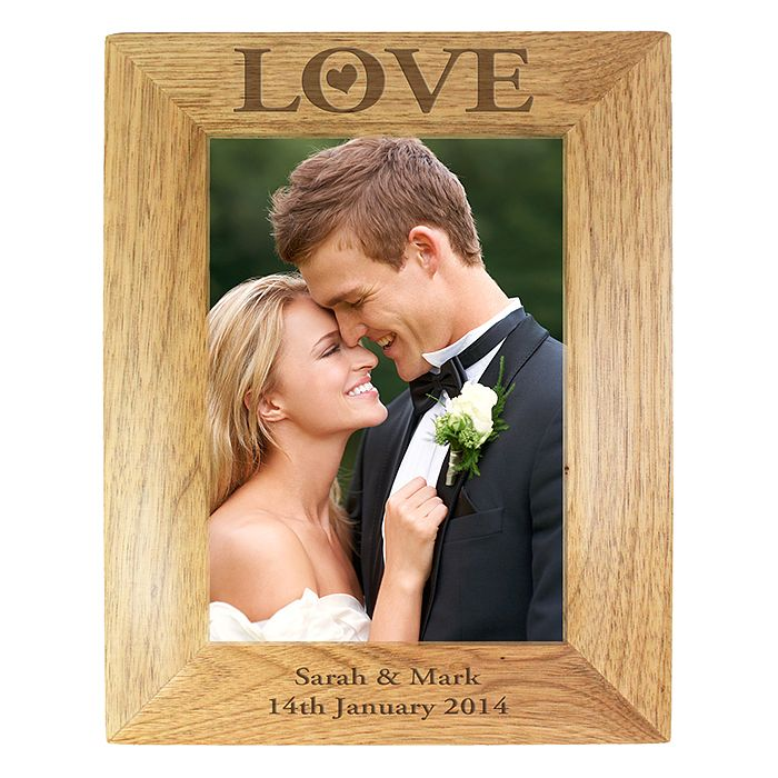 Engraved Love 5x7 Wooden Frame - Product number 2949989