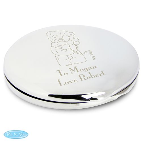 Engraved Me to You Flower Compact Mirror - Product number 2950057