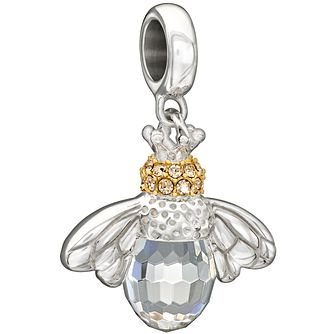 Chamilia Sterling Silver & Gold Queen Bee Hanging Charm - Product number 2950197