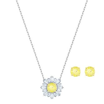 Swarovski Ladies' Rhodium Plated Sunshine Jewellery Gift Set - Product number 2950448