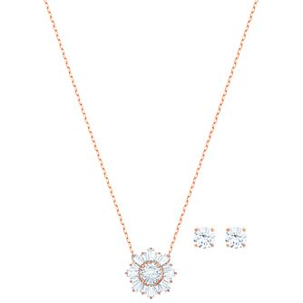 Swarovski Ladies' Rose Gold Tone Sunshine Jewellery Gift Set - Product number 2950464