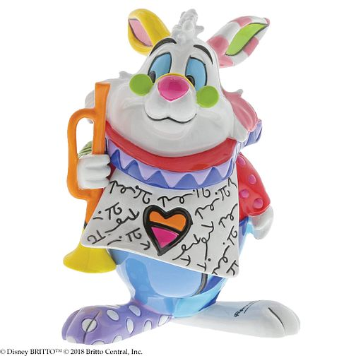 Disney Britto Wonderland White Rabbit Mini Figurine - Product number 2950677