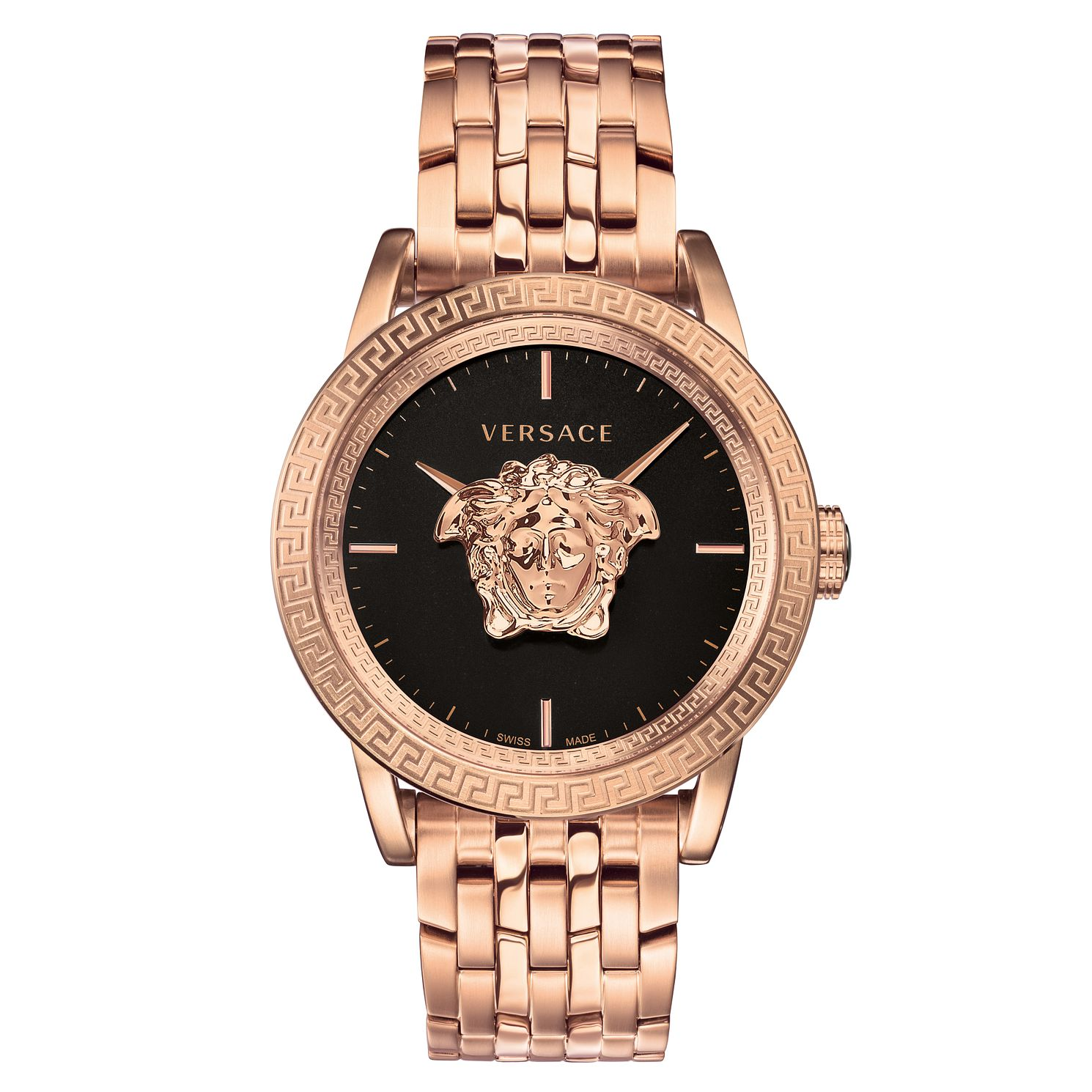 Versace Palazzo Empire Men's Rose Gold Plated Bracelet Watch - Product number 2951762