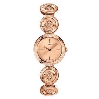 Versace Medusa Stud Icon Rose Gold Plated Bracelet Watch - Product number 2951878