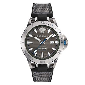 Versace Sport Tech Diver Men's Grey Silicone Strap Watch - Product number 2951983