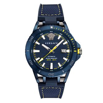 Versace Sport Tech Diver Men's Blue Silicone Strap Watch - Product number 2951991