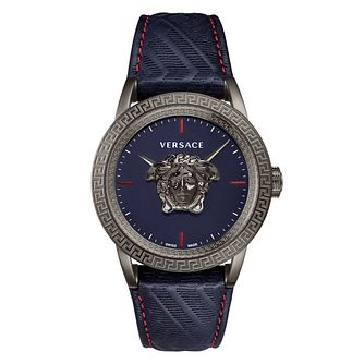 Versace Palazzo Empire Men's IP Blue Strap Watch - Product number 2952009