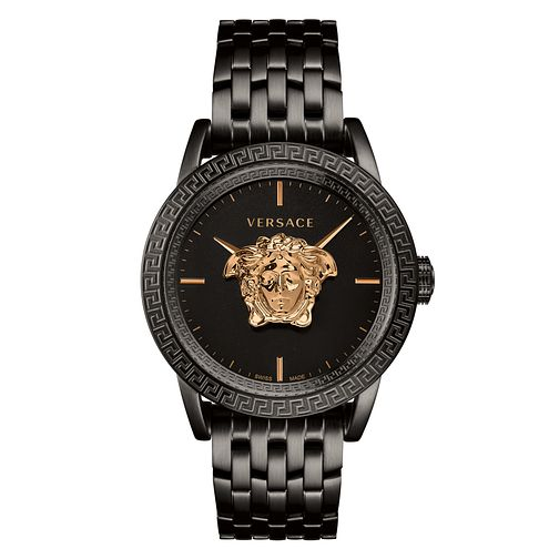 Versace Palazzo Empire Men's Black IP Bracelet Watch - Product number 2952041