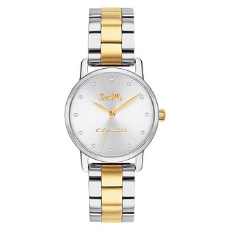 Coach Grand Ladies' Two-Tone Stainless Steel Bracelet Watch - Product number 2952742
