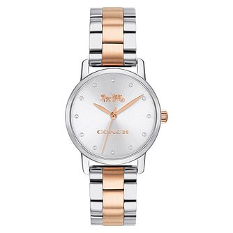 Coach Grand Ladies' Two-Tone Stainless Steel Bracelet Watch - Product number 2952750