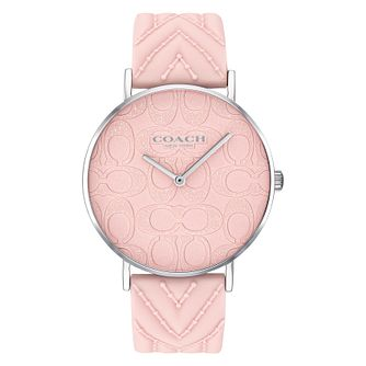 Coach Perry Ladies' Glitter Dial Pink Silicone Strap Watch - Product number 2952769