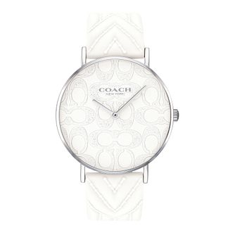 Coach Perry Ladies' Glitter Dial White Silicone Strap Watch - Product number 2952777