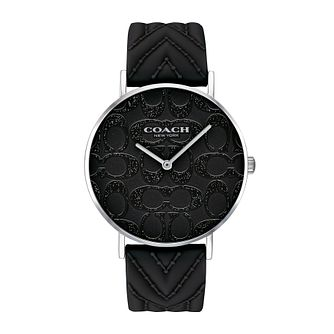 Coach Perry Ladies' Glitter Dial Black Silicone Strap Watch - Product number 2952785