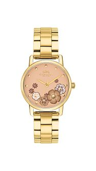 Coach Grand Ladies' Gold Tone Bracelet Watch - Product number 2952793