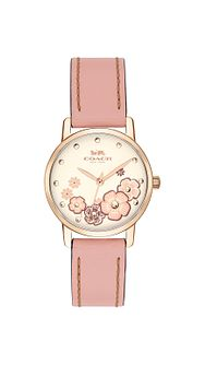 Coach Grand Ladies' Blush Pink Leather Strap Watch - Product number 2952807