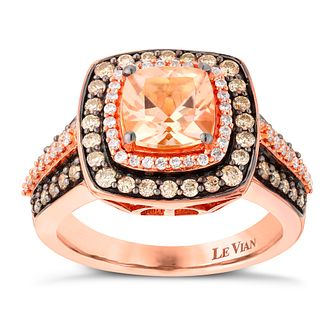 Le Vian 14ct Strawberry Gold Morganite & 0.71ct Diamond Ring - Product number 2952831
