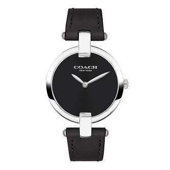 Coach Chrystie Ladies' Black Leather Strap Watch - Product number 2952947