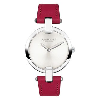 Coach Chrystie Ladies' Red Leather Strap Watch - Product number 2953048