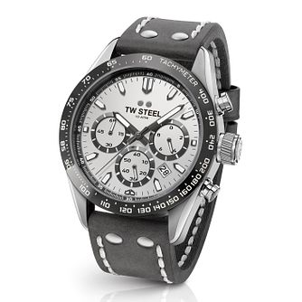 Tw Steel Chrono Sport Retro Men's Grey Leather Strap Watch - Product number 2953323