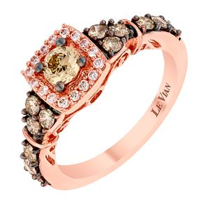 Le Vian 14ct Strawberry Gold Chocolate Diamond Wedding Ring - Product number 4296125