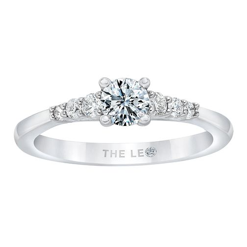 Leo Diamond 18ct White Gold 1/2ct Diamond Solitaire Ring - Product number 2954273