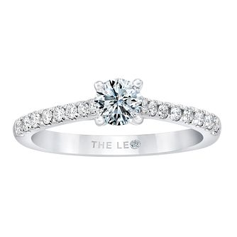 Leo Diamond 18ct White Gold 1/2ct Diamond Solitaire Ring - Product number 2955075