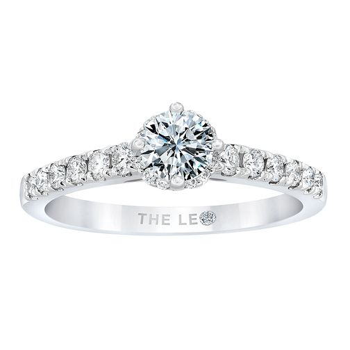 Leo Diamond 18ct White Gold 2/3ct Diamond Solitaire Ring - Product number 2955814