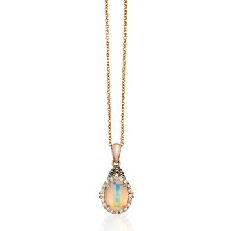 Le Vian 14ct Strawberry Gold Opal & Diamond Pendant - Product number 2957086