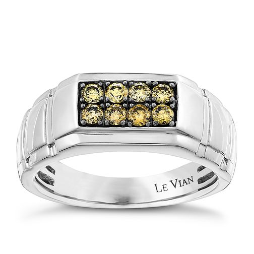 Le Vian 14ct Vanilla Gold diamond men's ring - Product number 2957272