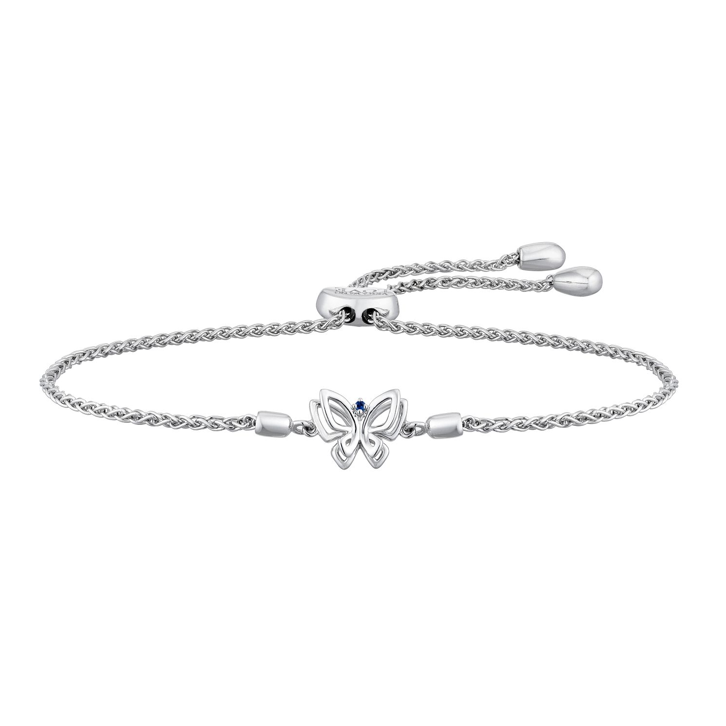 Vera Wang Sterling Silver Sapphire Butterfly Bracelet - Product number 2959763