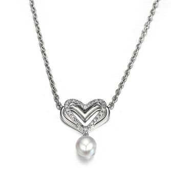 Vera Wang Diamond Heart And Pearl Pendant - Product number 2960109