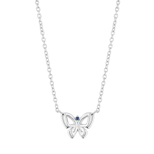 Vera Wang Sterling Silver Sapphire Butterfly Necklace - Product number 2960117