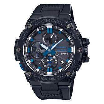 Casio G-Shock Blue Note Men's Black Rubber Strap Watch - Product number 2962772