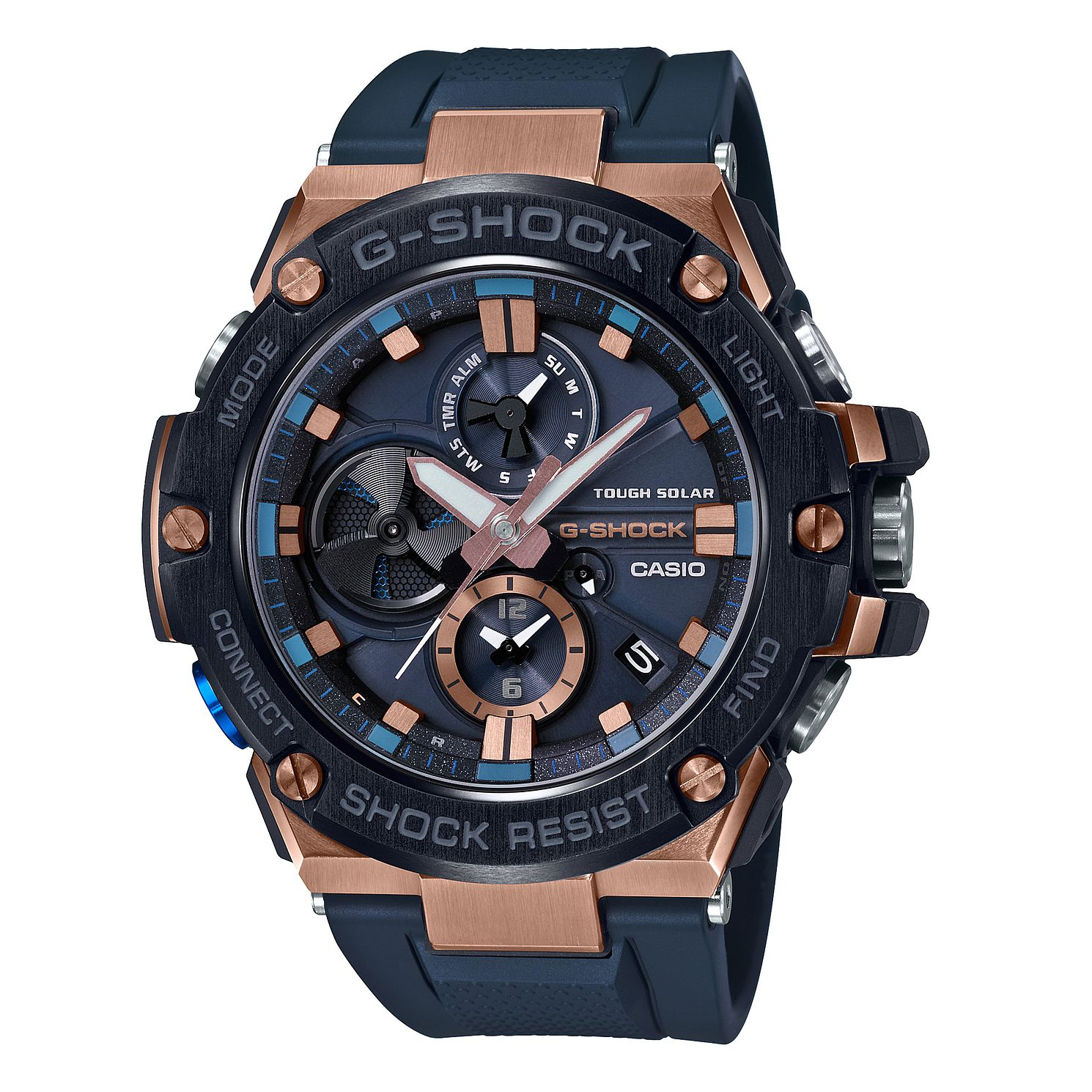 Casio G-Shock G-Steel Men's Black Rubber Strap Watch - Product number 2962829