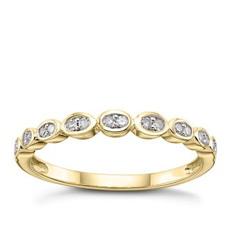 9ct Yellow Gold 1/10ct Diamond Rubover Eternity Ring - Product number 2964716