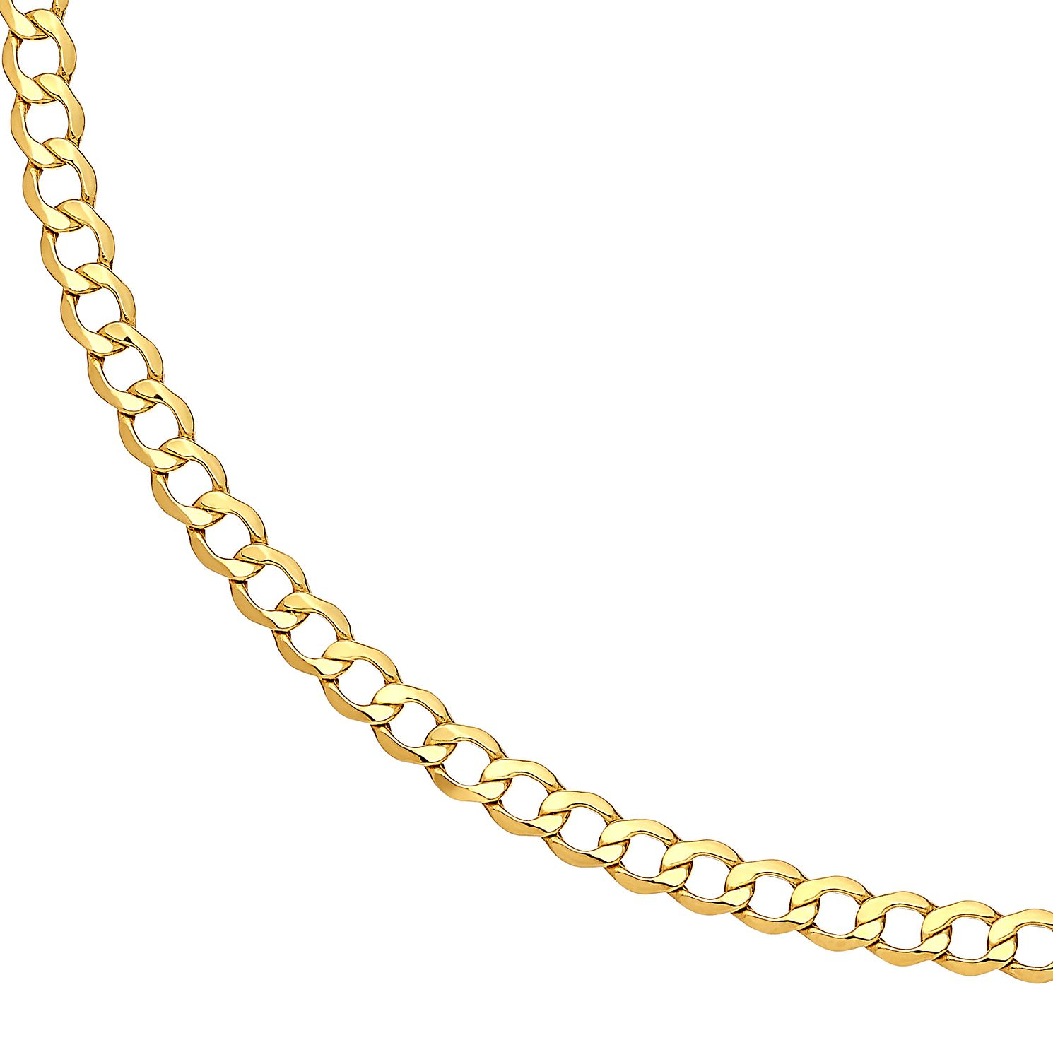 9ct Yellow Gold 24 inches Hollow Curb Chain - Product number 2967227