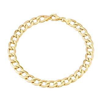9ct Yellow Gold 8 inches Curb Chain Bracelet - Product number 2967235
