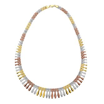 9ct Three Colour Gold 17 inches Cleo Collar - Product number 2968541