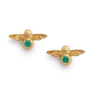 Olivia Burton Gold Tone Green Agate Celebration Bee Earrings - Product number 2970155