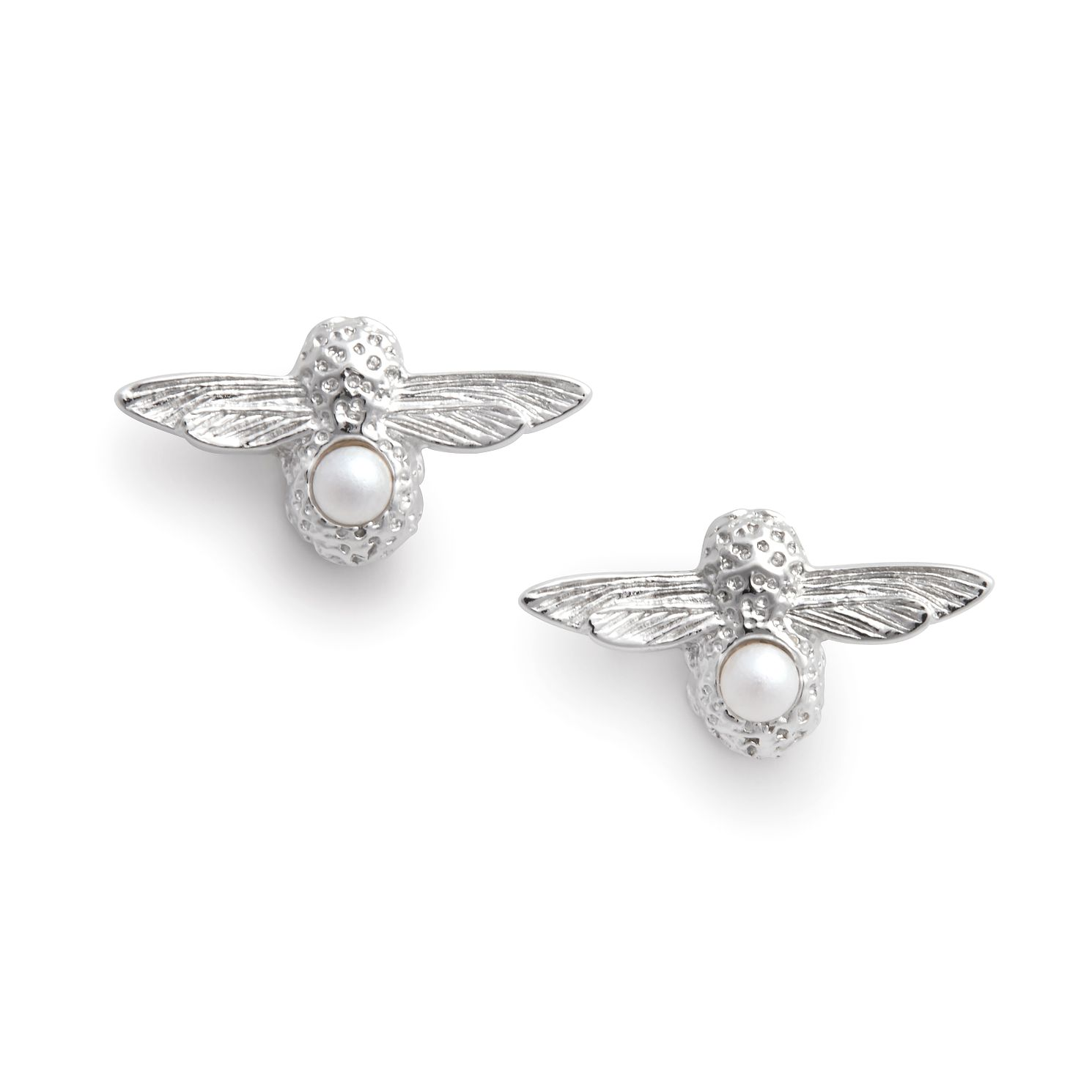 Olivia Burton Silver & Faux Pearl Celebration Bee Earrings - Product number 2970201
