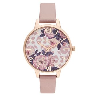 Olivia Burton Wild Flower Pink Vegan Leather Strap Watch - Product number 2970570