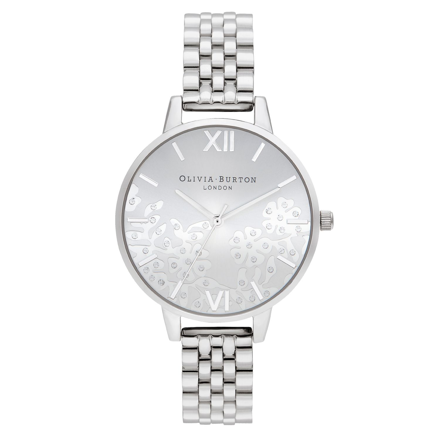 Olivia Burton Bejewelled Lace Stainless Steel Bracelet Watch - Product number 2970600