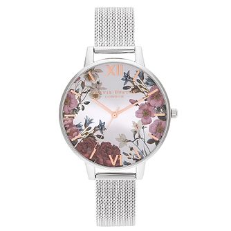 Olivia Burton British Bloom Stainless Steel Bracelet Watch - Product number 2970627