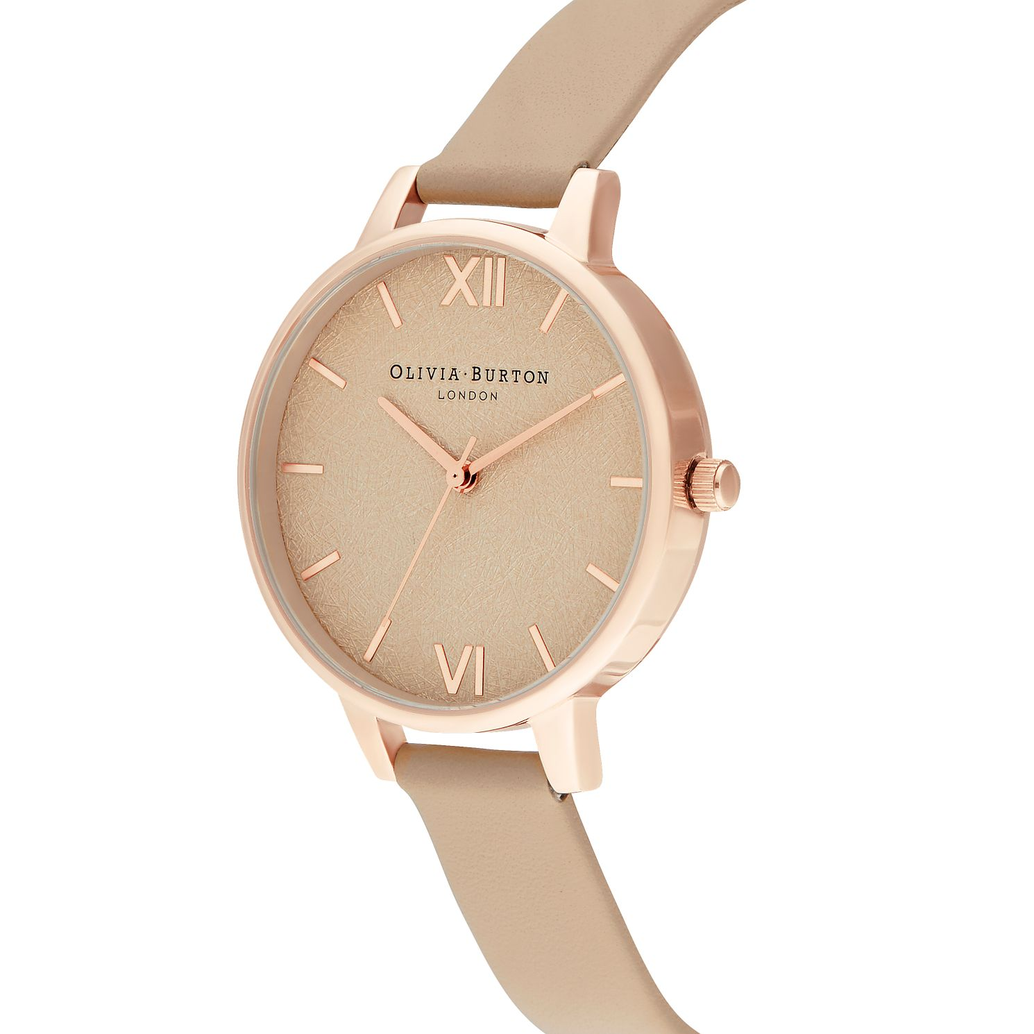 Olivia Burton Woven Dial Cream Leather Strap Watch - Product number 2970716