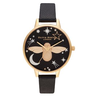 Olivia Burton Ramadan 3D Bee Black Leather Strap Watch - Product number 2970732